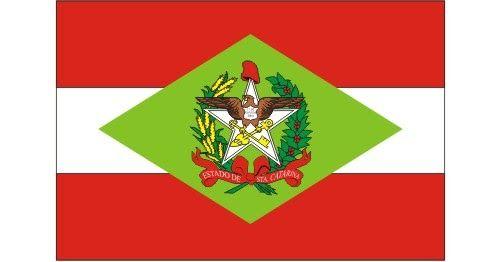 Bandeira de Santa Catarina Vetorizada em CDR | Vetores Brasil