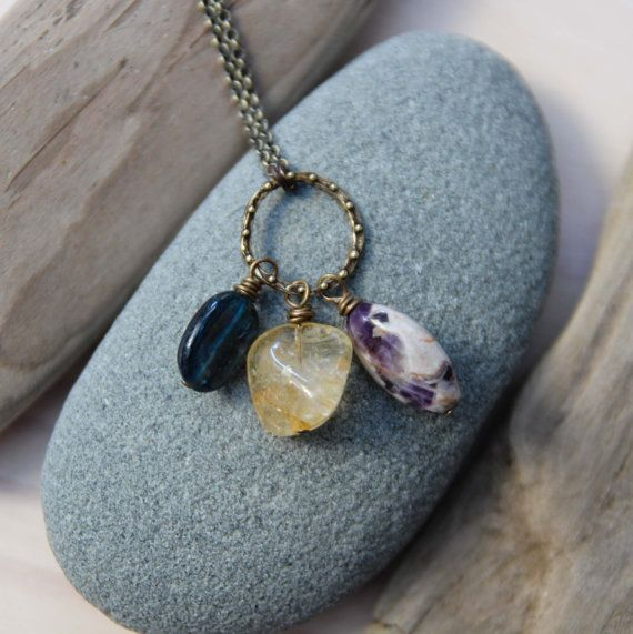 Resin Faux Crystal Wire Wrapped Pendant Necklace Diy: 17 Best Images About Tumbled Rock Jewelry Ideas On