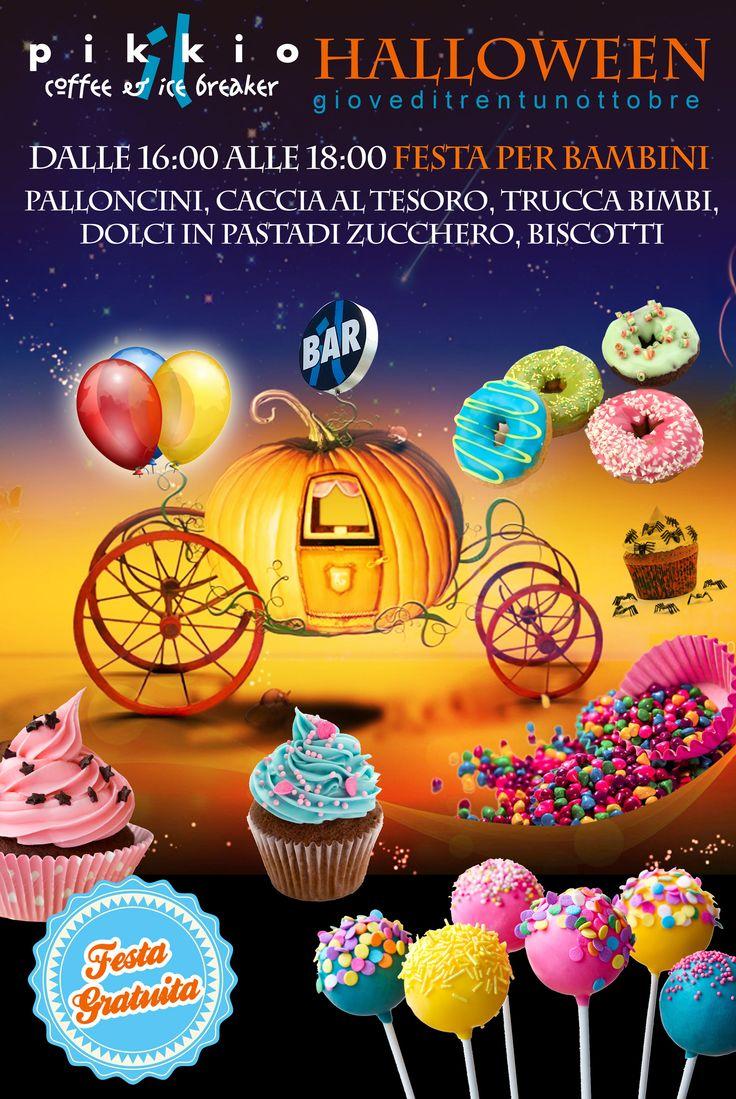 Giovedì 31 Ottobre dalle 16:00 alle 18:00 grande festa di Halloween al Pikkio Coffee & Ice Breaker per i più piccoli. #halloween  INGRESSO FREE
