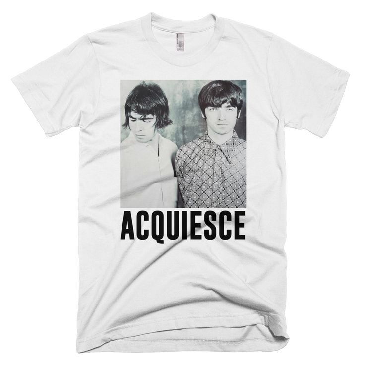 Oasis - Acquiesce Tee   http://www.blown-rose.co.uk/product/oasis-acquiesce-tee  #Oasis #LiamGallagher #NoelGallagher #Acquiesce #Manchester
