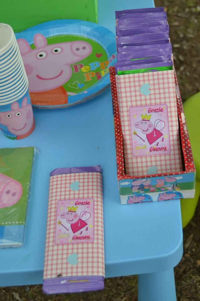 """PEPPA PIG""...favors and table set"