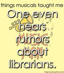 Things musicals taught me - the music man! Freaking love it! Don't forget about pool tables;)
