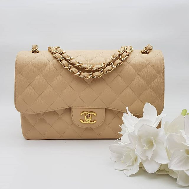 4500 Wire Preloved In Excellent Condition Chanel Classic Flap Jumbo Beige Caviar Gold Hardware Serial C Classic Flap Jumbo Chanel Classic Flap Chanel Classic