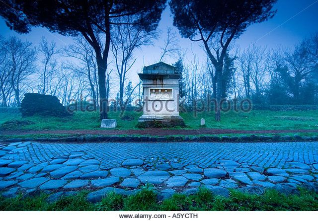 archeological finds along the via appia antica, rome. the rabiri mausoleum…