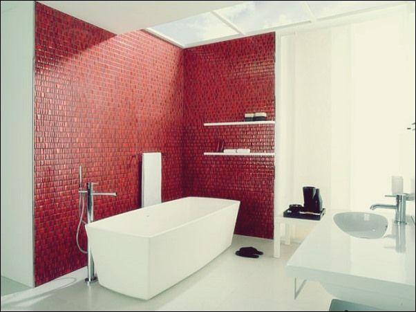 Wenn Sie Rot In Ein Badezimmer Integrieren Mochten Badezimmer