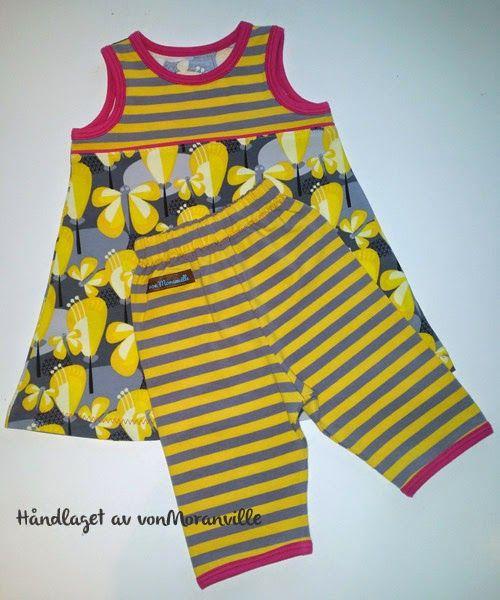Sommerlig kjole og kort bukse. Lillestoff. / Dress and short trousers for summer. Lillestoff