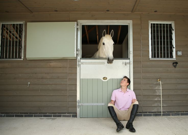 At home with the horses in their Scotts stables. #stablesforlife