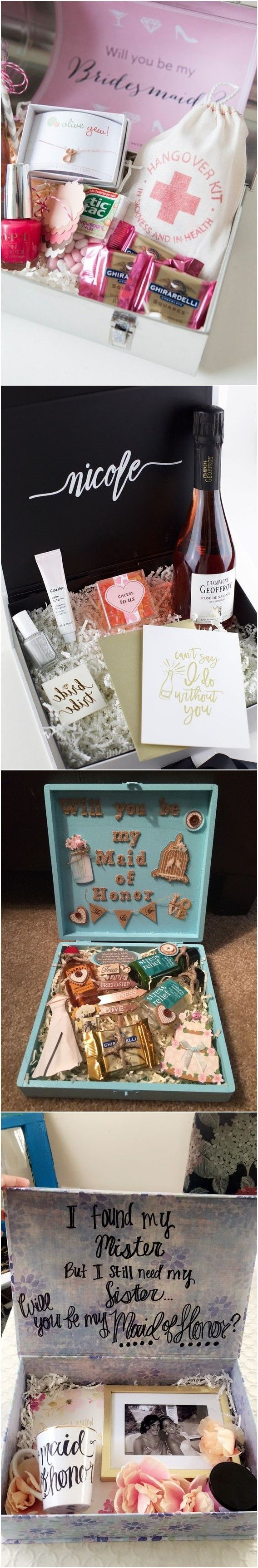 20+ Maid of Honor Proposal Ideas! She loved it and said YES!!!
