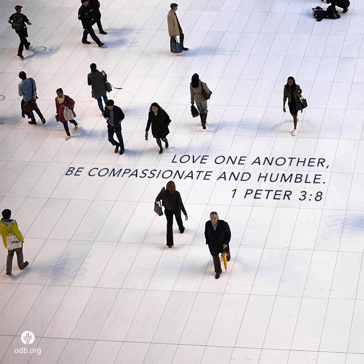 Love one another, be humble and compassionate