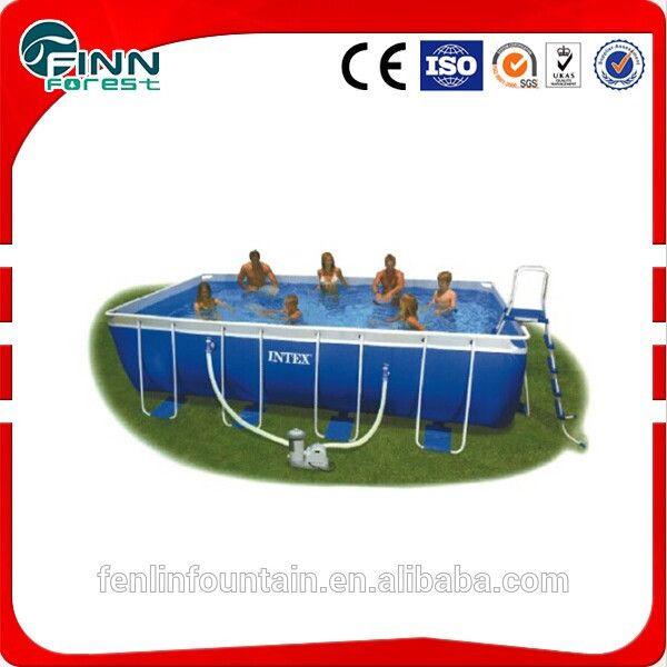 Outdoor summer swimming rectangular above ground swimming pool