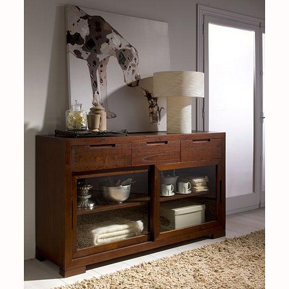 21 best muebles de salon comedor en madera de nogal images - Buffet para comedor ...
