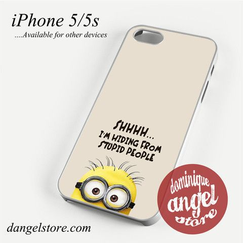 Minions Trying to Hiding Phone case for iPhone 4/4s/5/5c/5s/6/6s/6 plus