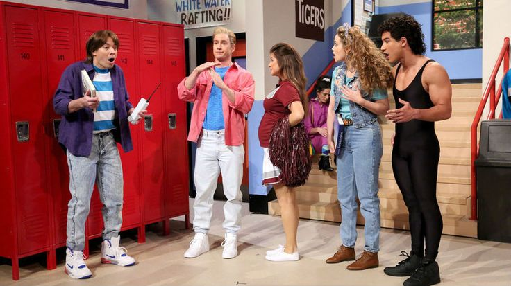 Jimmy Fallon is not only reuniting 'The Tonight Show' with the West Coast, he's also reuniting with his old high school classmates -- you know, the whole Bayside High gang from when he was on 'Saved By the Bell.'