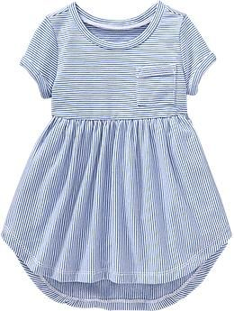 Striped High-Low Terry Dresses for Baby