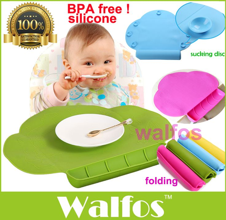 WALFOS Waterproof silicone Baby bib Table Mat Infant Tiny Diner Portable Placemat for kids Baby Feeding silicone baby placemat(China (Mainland))