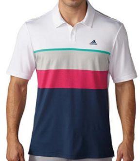 Polo de golf Adidas Climacool Engineered Striped . Tecnología ClimaCool™ te mantiene fresco gracias a su tejido similar a la malla con puntos de aluminio y acero que expulsan el sudor de tu cuerpo.