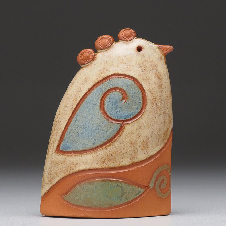 Ceramic bird, handmade, home decor,earth colors, gift, clay