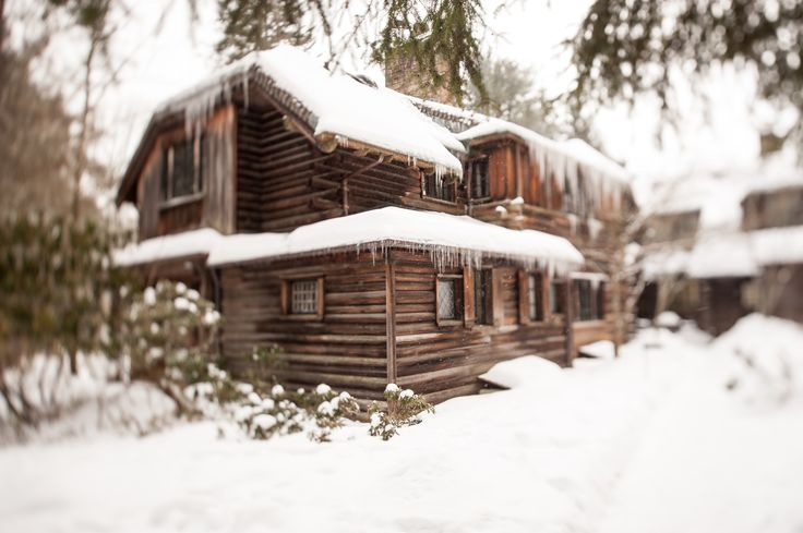 Winter Activities - The Lodge at Glendorn. When staying in the Main Lodge in the winter months, enjoy sitting next to one of it's four fireplaces!