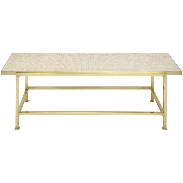 Dunbar Brass and Travertine Coffee Table by Edward Wormley   From a unique collection of antique and modern coffee and cocktail tables at https://www.1stdibs.com/furniture/tables/coffee-tables-cocktail-tables/