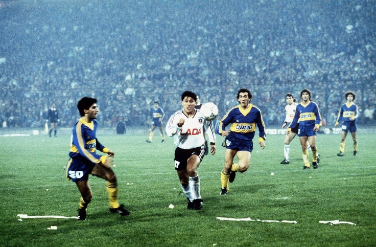 Colo Colo vs Boca Juniors en la semifinal de Copa Libertadores en 1991.