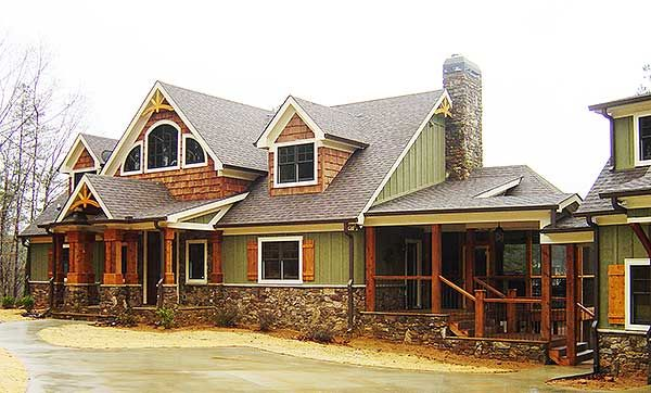Plan 92368MX: Exclusive Mountain Craftsman