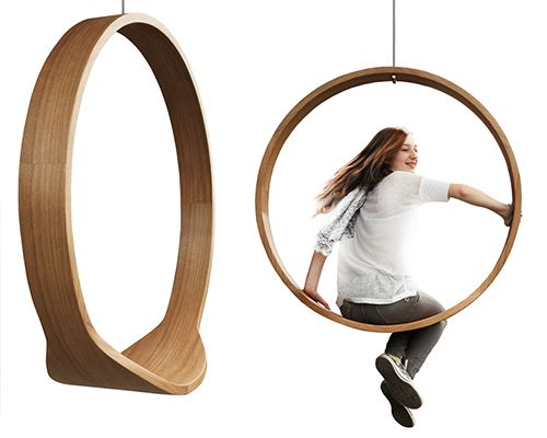 'Swing Chair', by Polish designer Iwona Kosicka, presents a functional suspended work perfect for indoor use. Made of solid wood by the hands of experienced carpenters, the seat is an example of high quality and minimalist design. Specifications: Diameter: 110 cm Depth: Rim – 13.5 cm Seat – 33.5 cm Constructed from molded Oak plywood …
