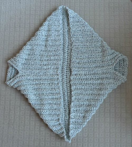 Easy Chunky Crochet Sweater | All About Ami------basically one giant square, sewn together in two lines. So easy!