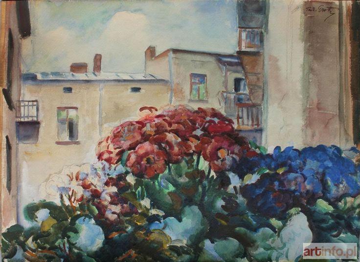 Teodor GROTT ● Kwiaty w oknie ●