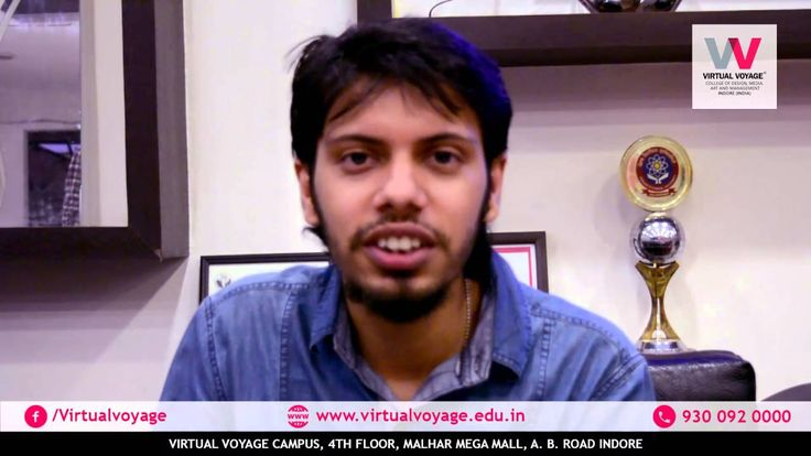 Sayantan Mukherjee from #Viacom18 visited @Virtual Voyage #College to #interact with #students and tell them various prospects in the #creative #career.