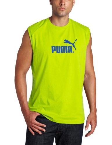 Puma Apparel Men's Sleeveless No 1 Logo Tee