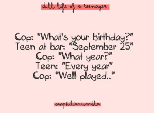 Teen birthday jokes