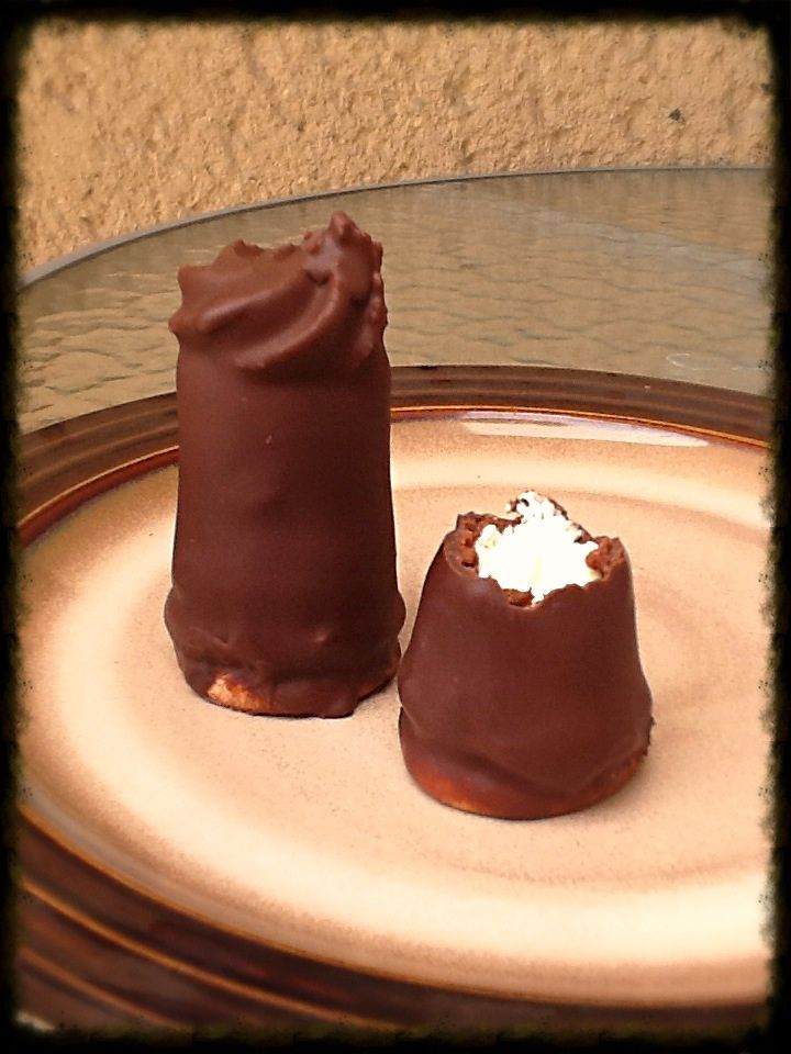"Chocolate Towers with liquer filling -""Špice s likérom"" - my favorite sweet (Slovak language)"