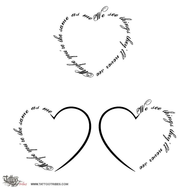 Tatuaggio di Cuore e canzone, Unione, complicità tattoo - custom tattoo designs on TattooTribes.com