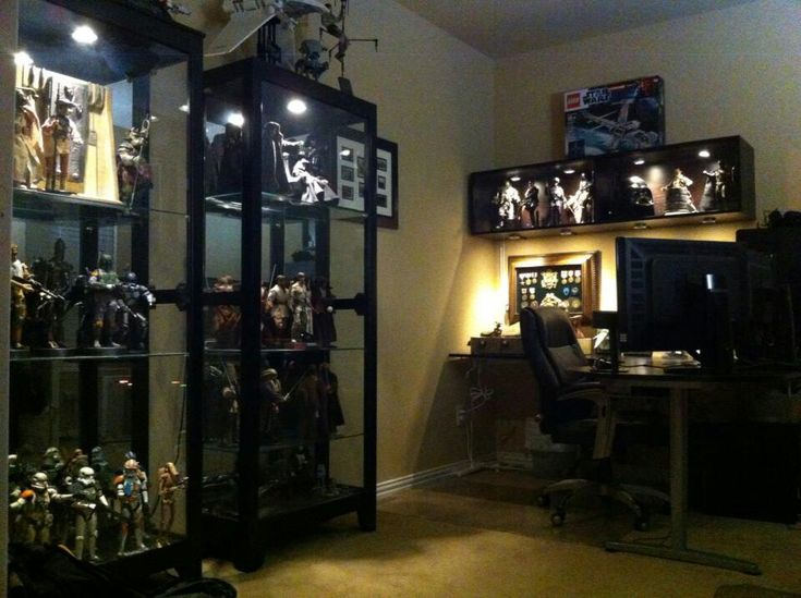 Nerd Man Cave Decor : Best images about figure collection display on pinterest