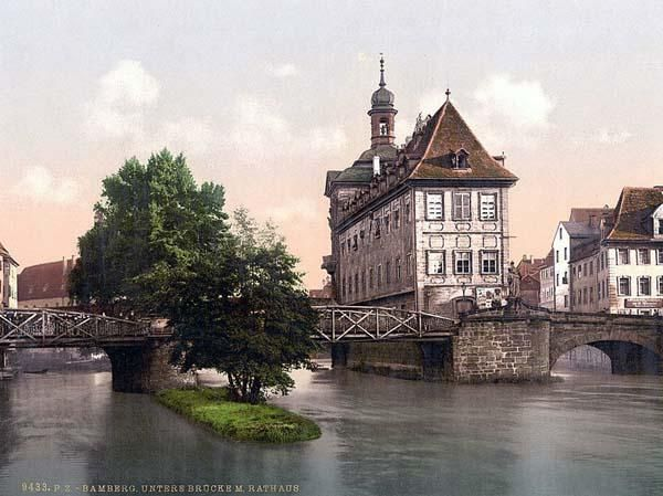 Lower bridge and rathhaus, Bamberg, Bavaria, Germany