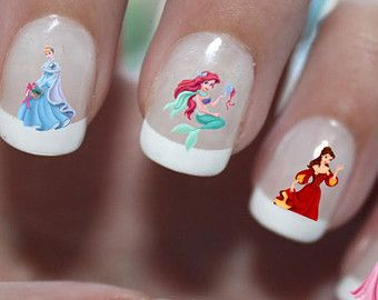 Disney Princess Christmas Nail Art Water Transfer Decal Waterslide Paper Slide