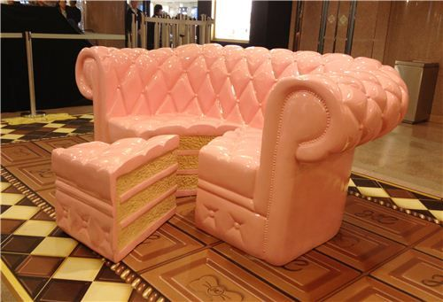 this blog features chocolate candy inspired furniture! amazing! i must have this couch!