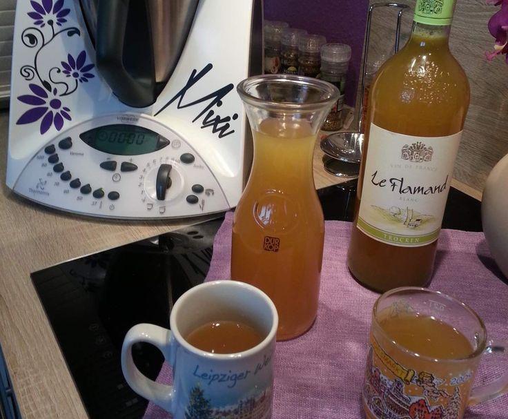 """Rezept ★☆ """" Weisser Glühwein """" mit Schuss ☆★ von Iris' LilaLauneKüche - Rezept der Kategorie Getränke"""