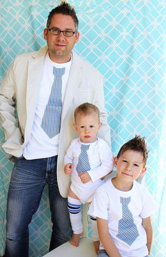 This is definitely going to be me and my little dude(s) Nothing quite as awesome as matching tie shirts!