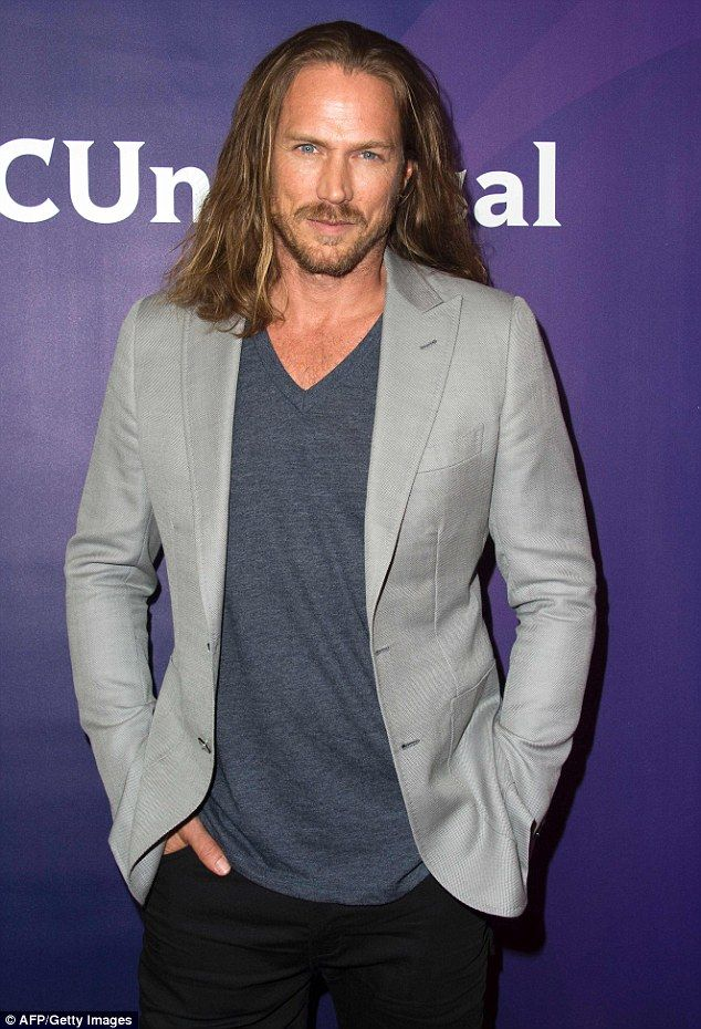 Still sexy: Jason Lewis looked handsome as ever while promoting his new series Midnight, T...