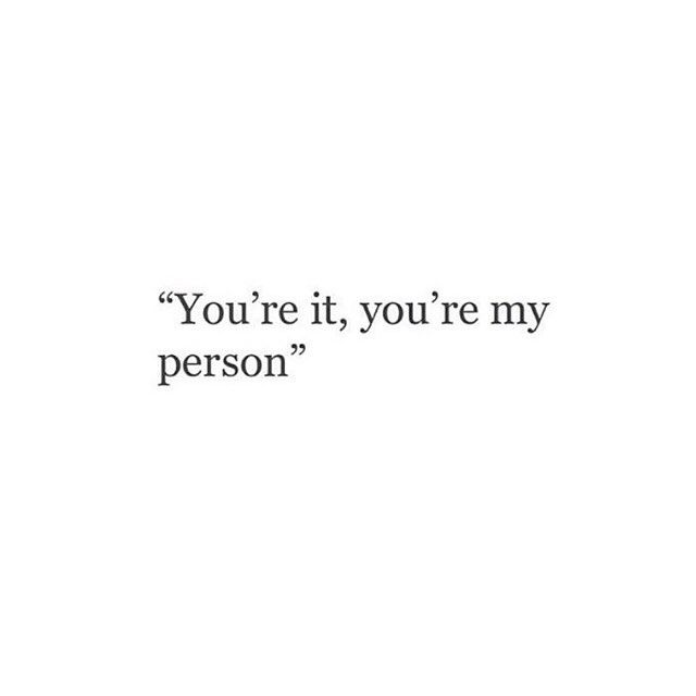We said this from the start and it will never not be. You are and I am for ever each other's person ❤️