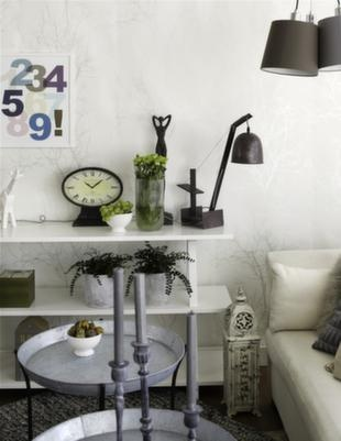 Vardagsrum i mjuk pastell