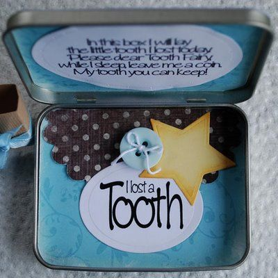 Tooth Fairy Tin instead of searching for the ziploc baggie under the pillow.