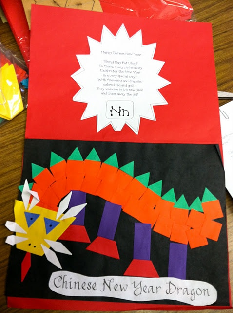 Chinese New Year Shape Dragon and Poem