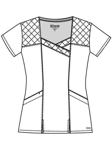 Buy Grey's Anatomy Women's Two Pocket Diamond Stitched Scrub Top for $28.50