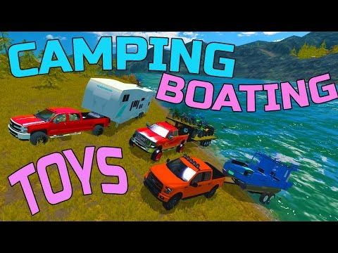 SPRING CAMPING | JOHN DEERE GATOR + CAN-AM ATV AND MORE | MULTIPLAYER - YouTube