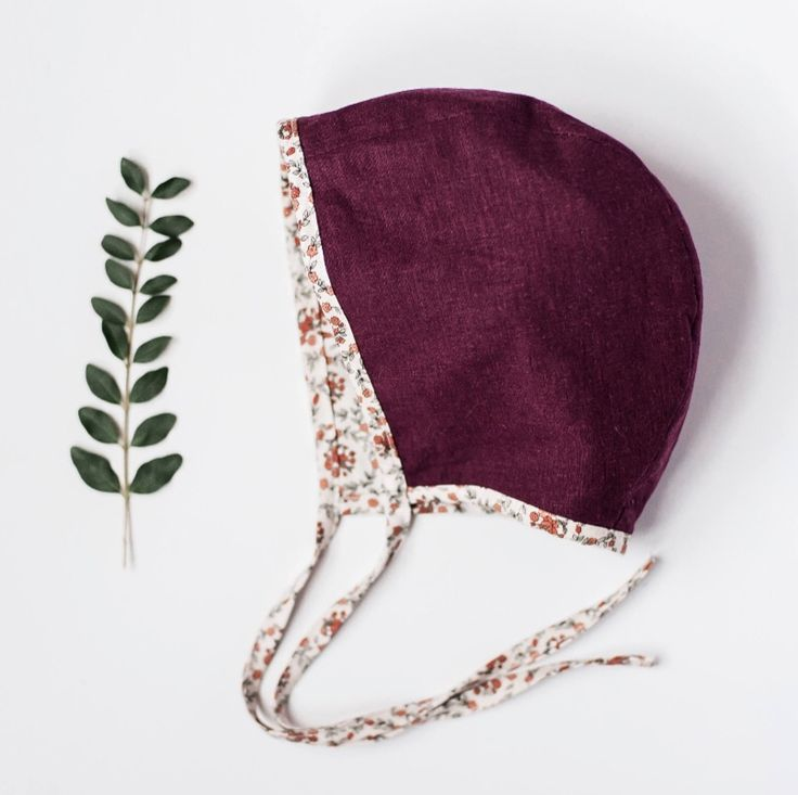 Handmade Reversible Linen Baby Bonnet | Gypsyandfree on Etsy
