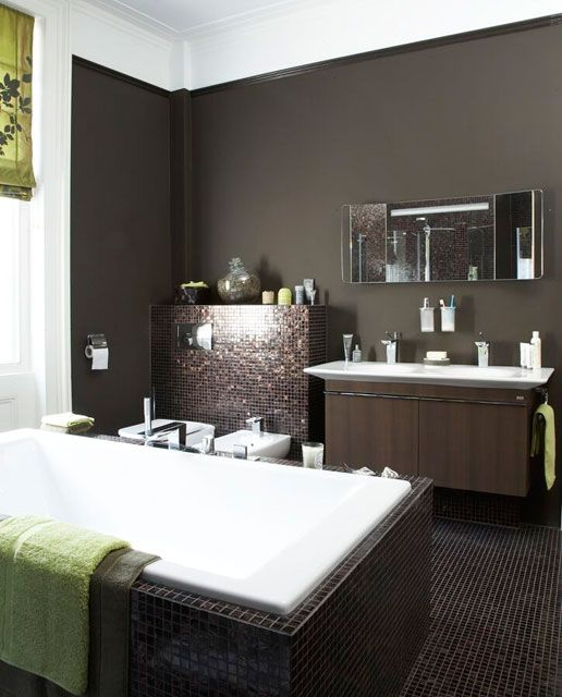 Real Bathroom Makeovers Large Mosaic Bathroom Makeover With A Central Bath