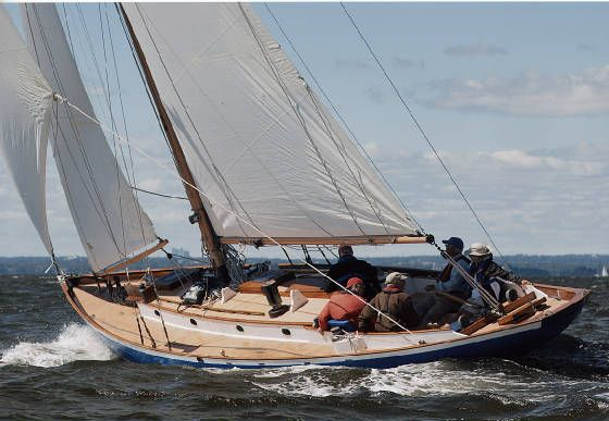 """Mary Loring, a 39'10"""" wooden sailboat for sale"""