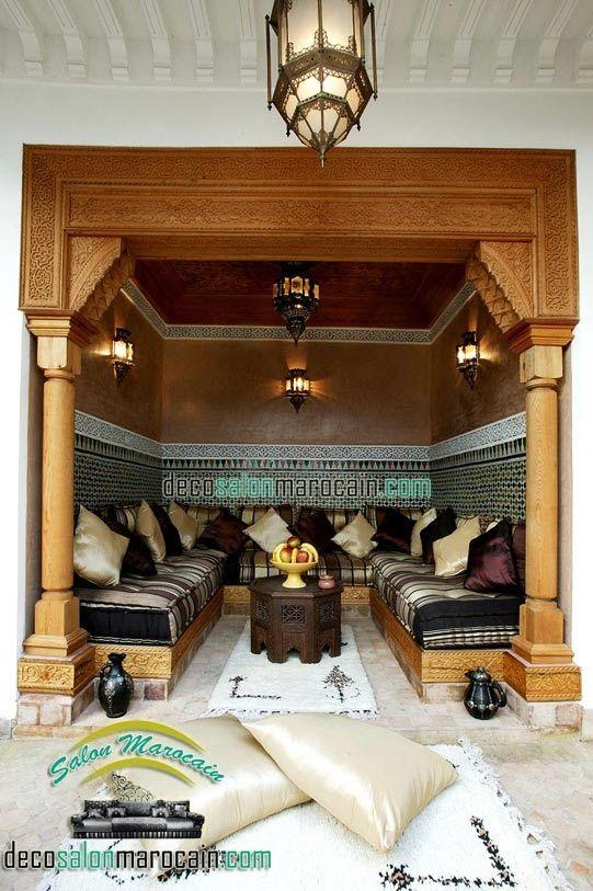 Salon marocain riad de luxe Salon Marocain Moderne 2014